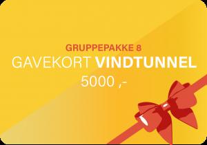 Vindtunnel Gavekort Gruppe 5000 MegaFun