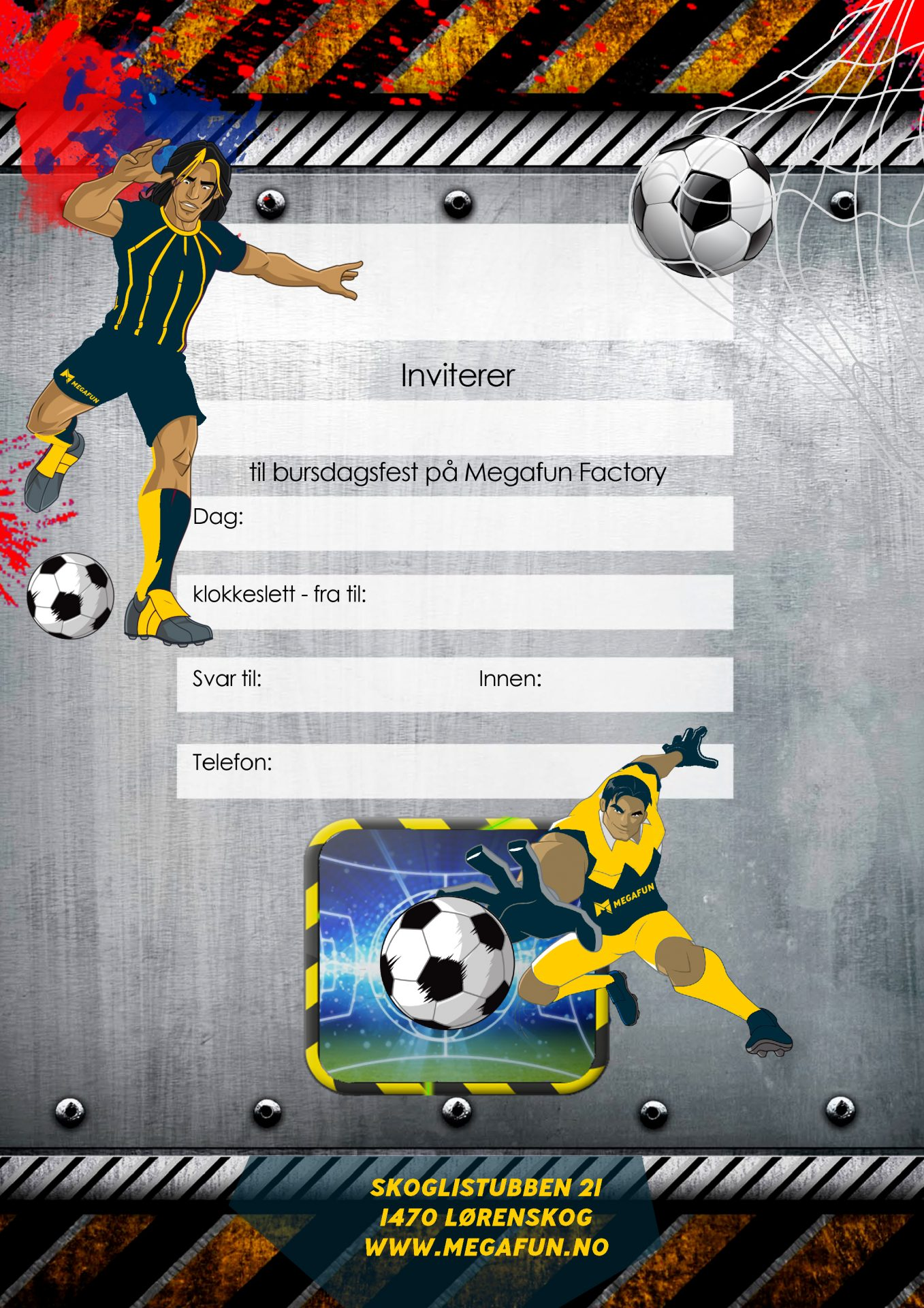 FOTBALL BURSDAG INVITASJONER-nye